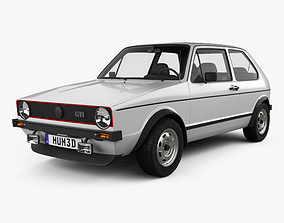 3D model Volkswagen Golf GTI 1975
