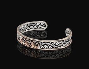 Rose Cuff Bracelet 2 3D printable model