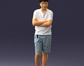 Boy in shorts and t-shirt 0463 3D