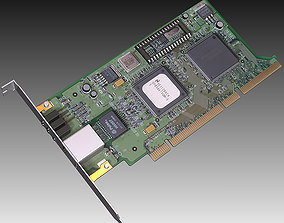 PC Network Card 3D model