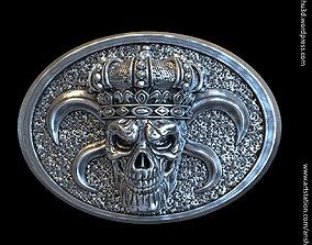 King skull with crown vol1 belt buckle 3D printable model