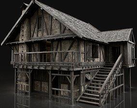 ENTERABLE AAA NEXT GEN MEDIEVAL CITY TOWN HOUSE 3D asset 1
