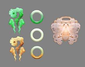 3D asset A pile of jade - Jade bracelet - amulet