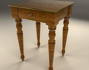 Wooden Nightstand table 3D