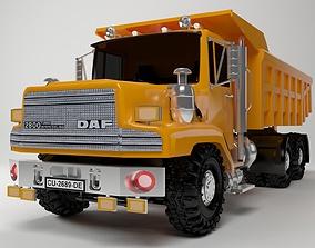 semi-trailer 3D Dump Truck