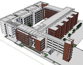 3D model Office-Teaching Building-Canteen 33