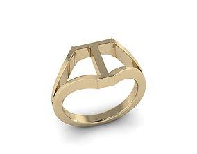 3D print model Jewelry Alphabet Ring T