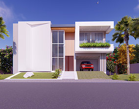 3D luxury Modern House