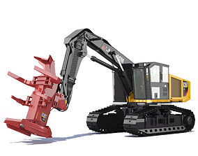 Tracked Feller Buncher 551 3D
