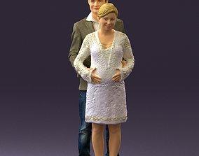 3D model A man and a pregnant woman 0448