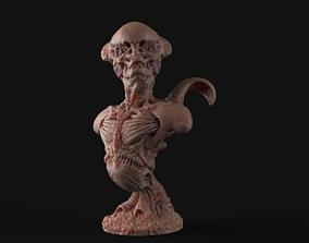 Alien Bust inspired in Giger 3D printable model