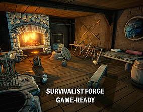 Medieval survivalist forge 3D model