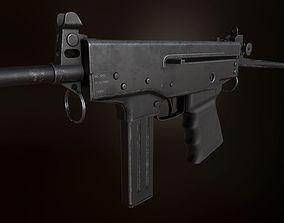 3D model PP-91 KEDR submacine gun