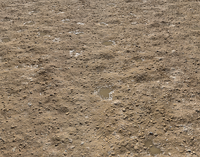 Rough Rocky Terrain PBR 3 3D model