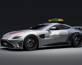 3D model Aston Martin Vantage coupe F1 safety car