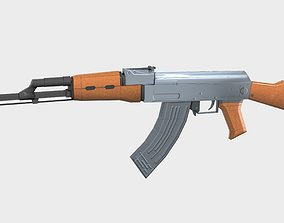 AK-47 Gun Low Poly 3D model