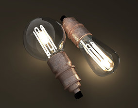 Eco-filament light bulbs combo 3D model vintage