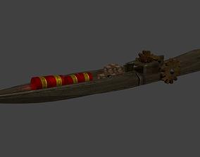 3D model Steampunk Cargo Boat