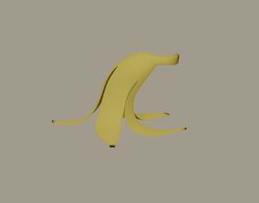 3D model game-ready Banana Peel