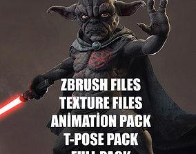 Yoda Starwars Fan Dark Side 3D asset
