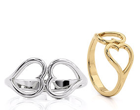 3D print model R 0265 Heart ring Valentines Day