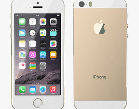 telephone Apple iPhone 5S Gold 3D