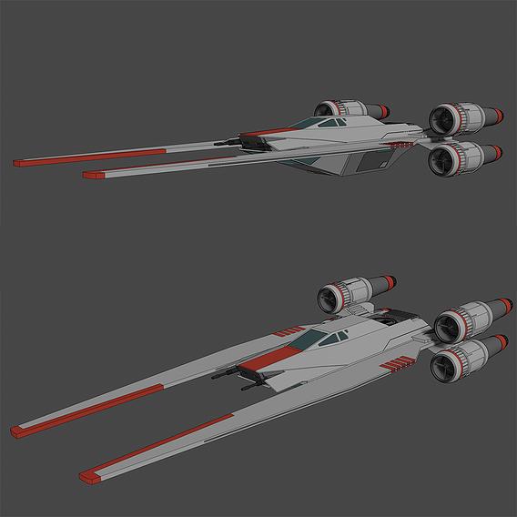 U-Wing - UT-60D - Star Wars - Fan Art