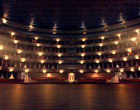 3D model opera theater realistic