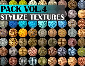 3D model Stylized Texture Pack - VOL 4