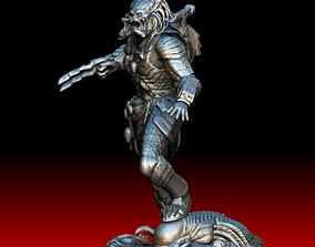 3D model Wolf predator with predalien base