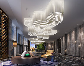 various hotel lobby 3D model