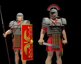 Roman Legionary and Centurion 3D model