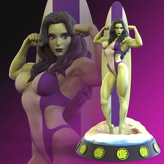 She Hulk 3D print model