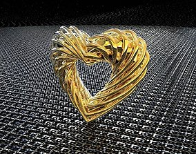 BRO CURVE HEART PENDANT 3D printable model