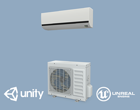 3D asset game-ready PBR Air Conditioner