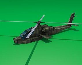 3D asset AH-64 Apache