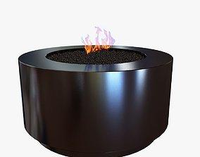 black round fire pit 3D