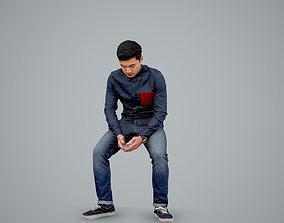 Casual Man Texting on Phone CMan0104-HD2-O01P01-S 3D model