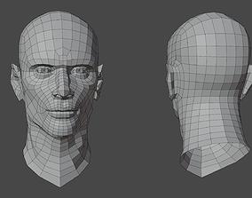 Male Head Base V1 3D asset