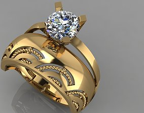 GC GOLD TW0143- Diamond ring 3D printable model