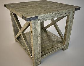 3D model Rustic X End Table