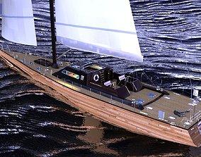 Sailboat design 3D model