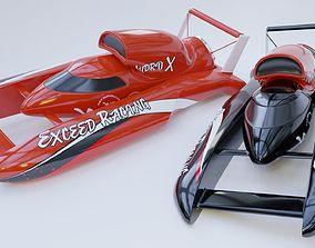 3D model Speed boat extream racer nitro