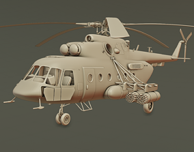 Helicopter Mi-8 AMTSH helicopter 3D printable model