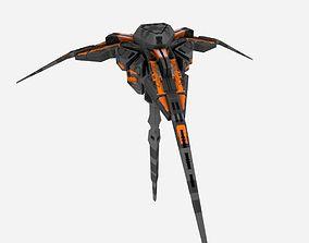 3D asset Triangular Spaceship