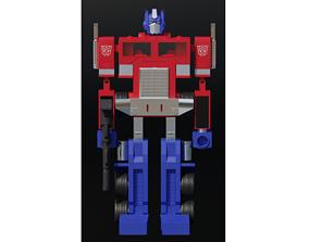 90s Optimus Prime Model PBR