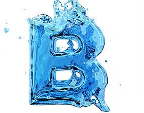 models Liquid letter B 3D model