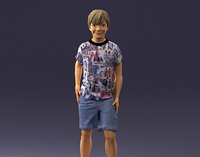 Boy in pose 0243 3D print ready