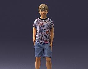 Boy in pose 0243 3D print ready