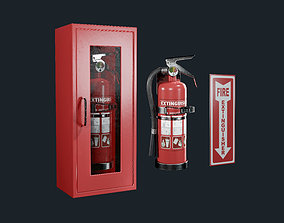 Fire Extinguisher Pack Game Ready 3D asset